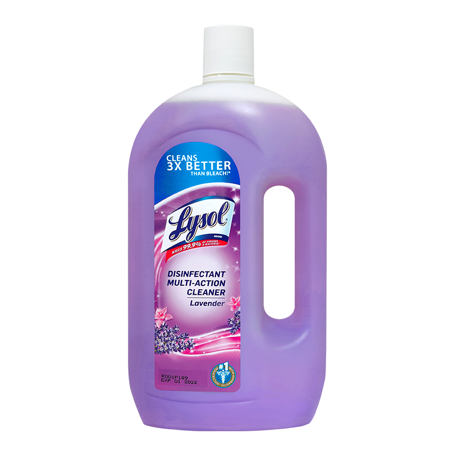 Lysol Multi Action Cleaners  Lavender 900ml