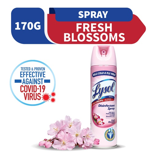 [Lysol Disinfectant Spray Fresh Blossoms Scent 170G (Tripi)] Lysol Disinfectant Spray Fresh Blossoms Scent 170G